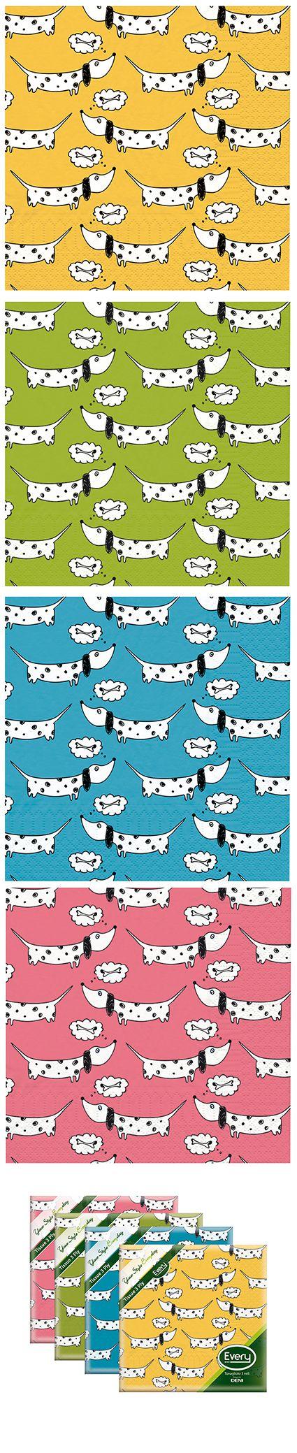 Pattern divertente lo puoi trovare nel comodo tovagliolo su carta tradizionale.www.deni.it