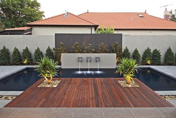 Contemporary Backyard With Asian Themes On Drake Street