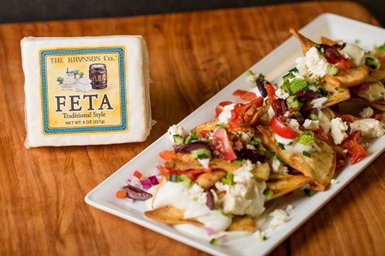 Put a Mediterranean twist on everyone's favorite party food with Kryssos Feta Greek Nachos