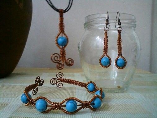 Tyrkysové variácie by drotulaLula - SAShE.sk - Handmade Sady šperkov