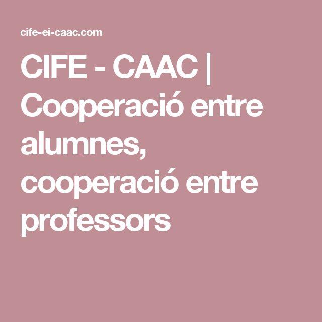 CIFE - CAAC | Cooperació entre alumnes, cooperació entre professors