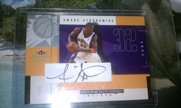 AMARE STOUDEMIRE AUTOGRAPHED CARD RARE MINT FROM PACK