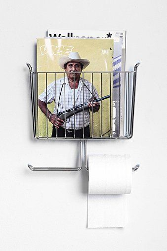 Mounted Magazine + Toilet Paper Holder - Urban Outfitters
