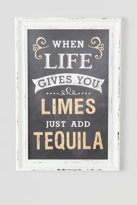when life gives you limes just add tequila hang this hilarious sign in wall decor - Bar Wall Decor