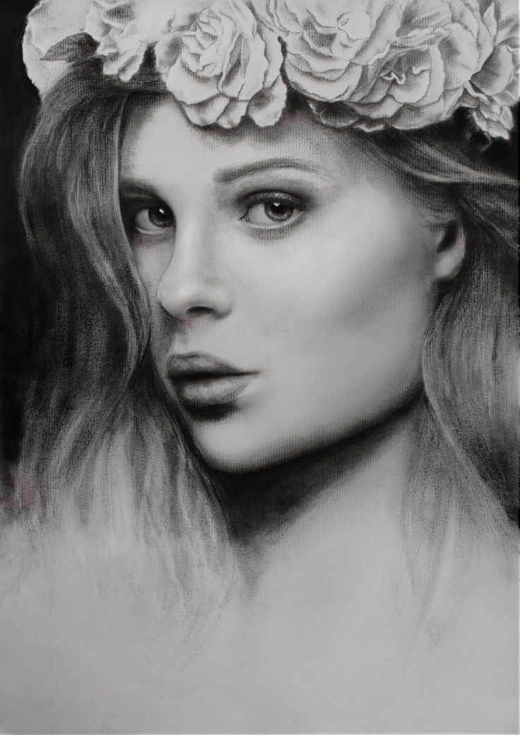 Portrait - Pencil and dry bush oil paint on Behance
