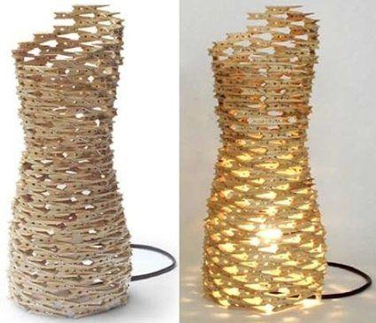 DIY_Lampe aus Wäscheklammern