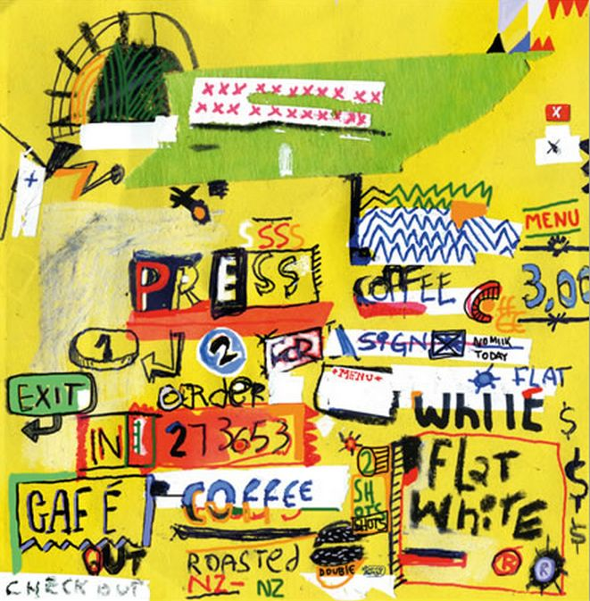 Coffee Fix! 'Random with Coffee by Mauricio Benega. Artprints in paper and canvas available through www.imagevault.co.nz