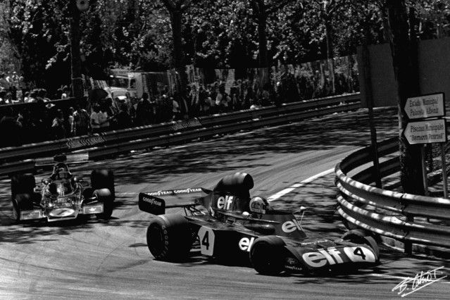#1 Emerson Fittipaldi (Bra) - JPS Lotus 72E (Ford Cosworth V8) 1 (7) John Player Team Lotus #4 Francois Cevert (Fra) - Tyrrell 006 (Ford Cosworth V8) 2 (3) Elf Team Tyrrell