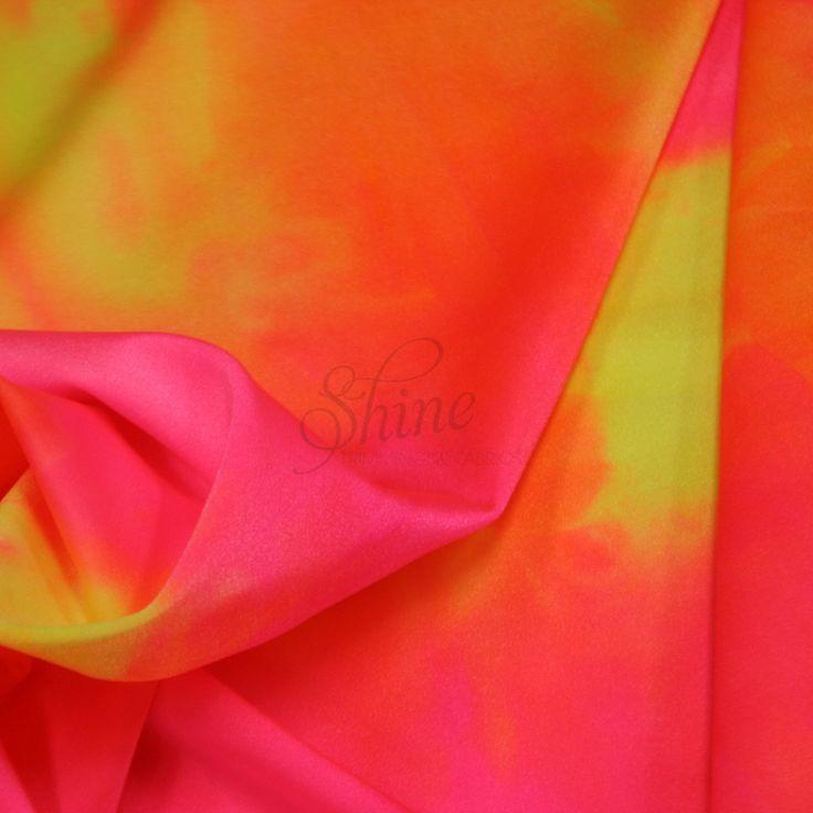 Neon Tie Dye Spandex Sunburst   Shine Trimmings & Fabrics