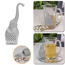 Unique Elephant Tea Strainer, Interesting Life Partner Cute Teapot Silicone Tea Infuser Filter Teapot for Tea & Coffee Drinkware(China (Mainland))