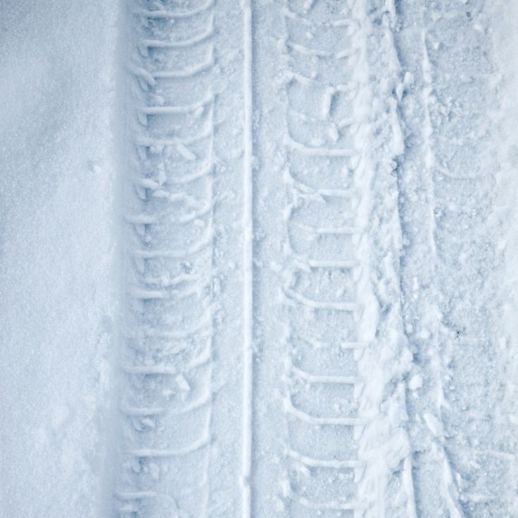Tyre Track in Snow - Simply just a tyre track in snow.