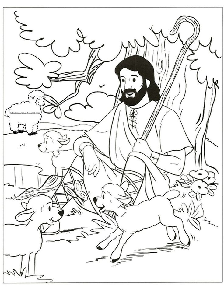33 best images about good shepherd on pinterest maze for Shepherd and sheep coloring page