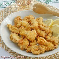 Petto di pollo fritto con salsa di limone
