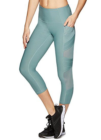 8b56571695bdd RBX Active Women's Capri Legging with mesh Inserts and X Straps at Amazon  Women's Clothing store: ad
