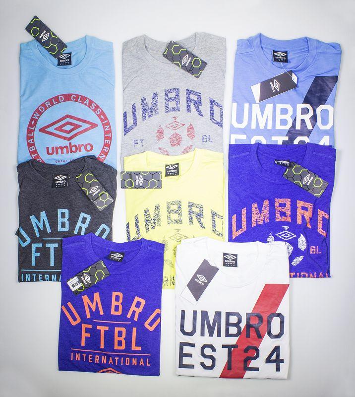 Umbro t-shirt, presso B.box Store #bbox #store #sport #negozio #cento #italy#serigraphy #distribution #factory #umbro #tshirt #colori #magliette