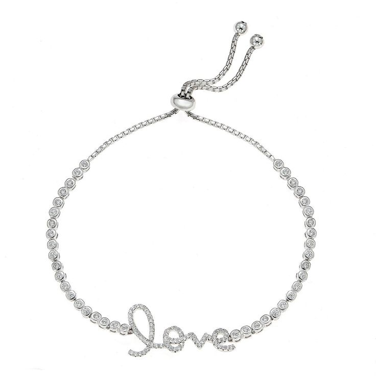CJoL - Sterling Silver CZ Set Mum Bangle Bracelet In Gift Box vT0ecLpKQ5