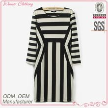 New design fashion stripe print fancy smart elegant casual dress for fat women Best Buy follow this link http://shopingayo.space