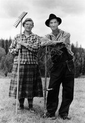 Vera och Frits Eriksson, Öre-Långsele, Lycksele 1966. Sune Jonsson
