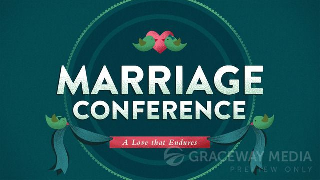 """""""Marriage Conference"""" is a Title Still containing a Title Layout and two unique Content Layouts. Download Jpegs in both 16:9 (widescreen) and 4:3 (standard) format or PowerPoint presentations ready for your bullet points. Take full creative control and download the layered Photoshop file (PSD)."""
