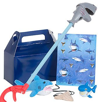 Their jaws will drop when you give each of your birthday party guests #shark favor packs.