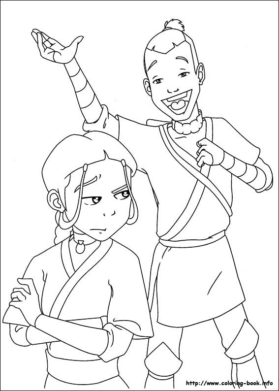 avatar the last airbender coloring picture lineart avatar last airbender pinterest