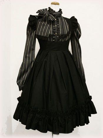 cute gothic lolita! like the stripes.