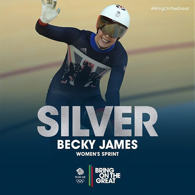 Awesome #cycling, resulting in a stunning #Silver for Becky James to join…