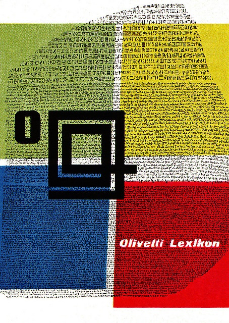 G. Pintori Illustration  Folder for Olivetti typewriters. From Graphis Annual 54/55.