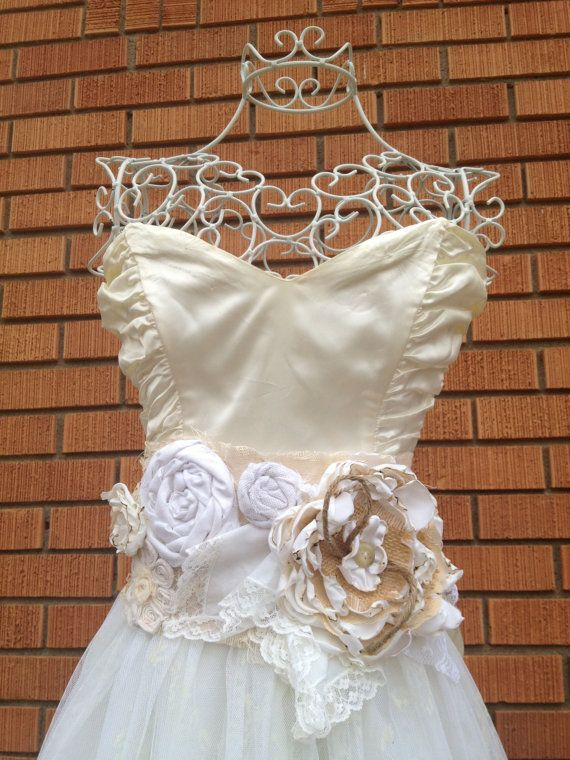 Hows about :D ?  Annabelle  Shabby Chic Wedding Dress Sash by ShabbyGirlNextDoor, $45.00