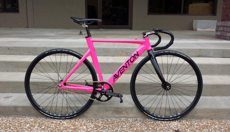Pink Aventon Mataro Fixed Gear