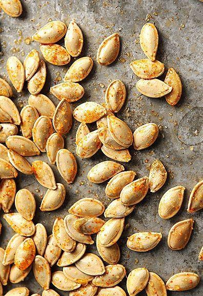Toasted pumpkin seeds, Seeds and Pumpkins on Pinterest