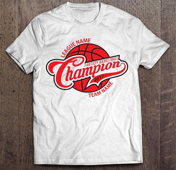 Did you win your fantasy league this year? If you did, don't just quietly take your winnings...talk smack and on top of that taunt your league mates with this white or black customized Fantasy Basketball Championship T-shirt. This is a great alternative to a fantasy basketball championship trophy or belt or ring.  It is the perfect shirt to wear if you participate in a live in-person offline draft serving as the best reminder of who is the reigning champion.