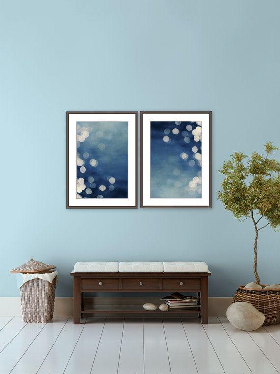 Prints Indigo Prints Abstract Blue Navy Beach House