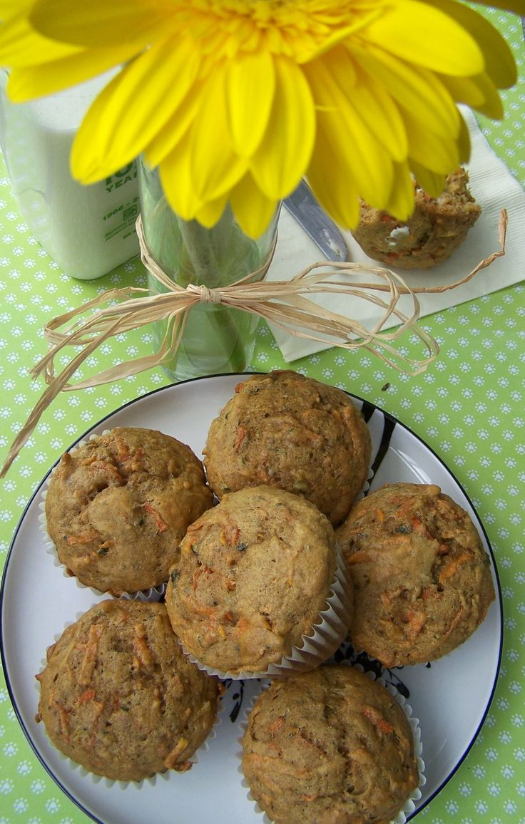 Garden Veggie Muffins - hide sweet potato, zuchinni and carrots. Each muffin 1/3 cup veggies!