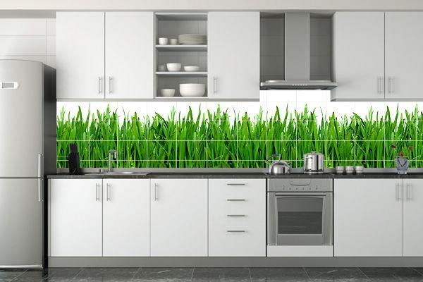 glasrückwand küche gras holz Haus Pinterest - glas wandpaneele küche