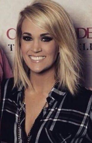 Carrie Underwood Blownxawayx94 Shoulderlengthshortgirlhairstyles