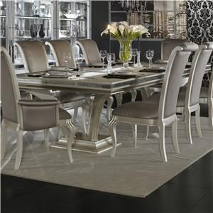 Exceptional AICO Hollywood Swank Large Rectangular Dining Table By Michael Amini