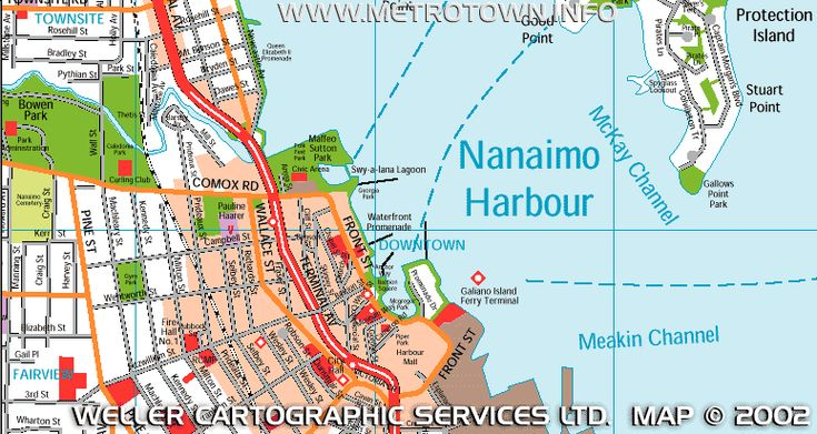 Map of City of Naimo harbor area by Weller Cartographic Services Ltd.