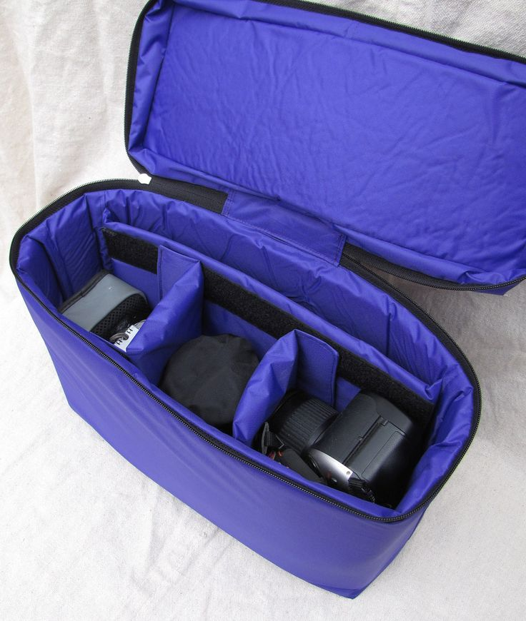 PreOrder Custom DSLR Camera Bag Insert with Zipper Closure -Adjustable Dividers - Custom Size and Color. $60.00, via Etsy.