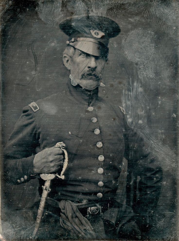 """Col. Hamtramck, Virginia Volunteers."" Daguerreotype portrait of an American colonel who fought in the Mexican-American War, c. 1847."