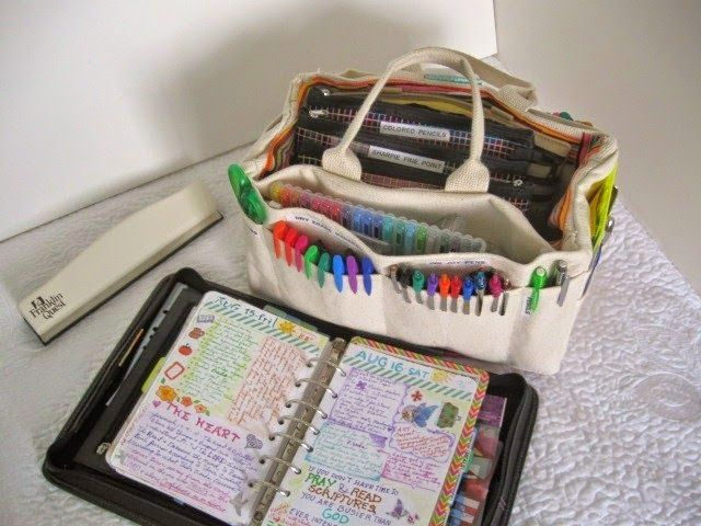 A Palette Full of Blessings: Journaling supply bag. I bought the bag at Harbor Freight tools just for my journaling supplies.
