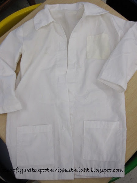 how to cut and sew a lab coat