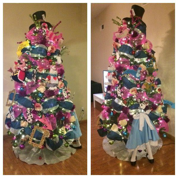 Christmas tree Alice in wonderland