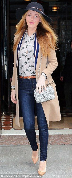 Stepping out in style: Blake Lively was spotted leaving a New York hotel on Friday...