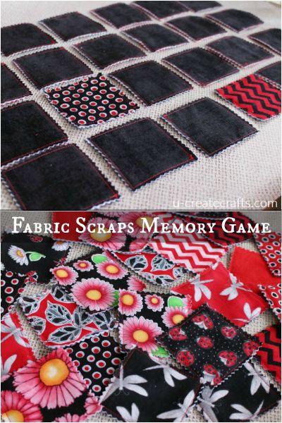 DIY Fabric Scraps Memory Game   Skip To My Lou   Bloglovin'