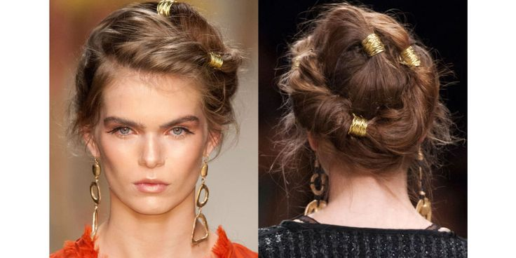 Beautiful Hair Trend 2016. Hair Charms. Twist Styles for 2016. Gold Hair Bands. Style Trends to Watch