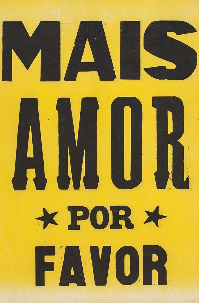 poster mais amor por favor estrelado amarelo 2015