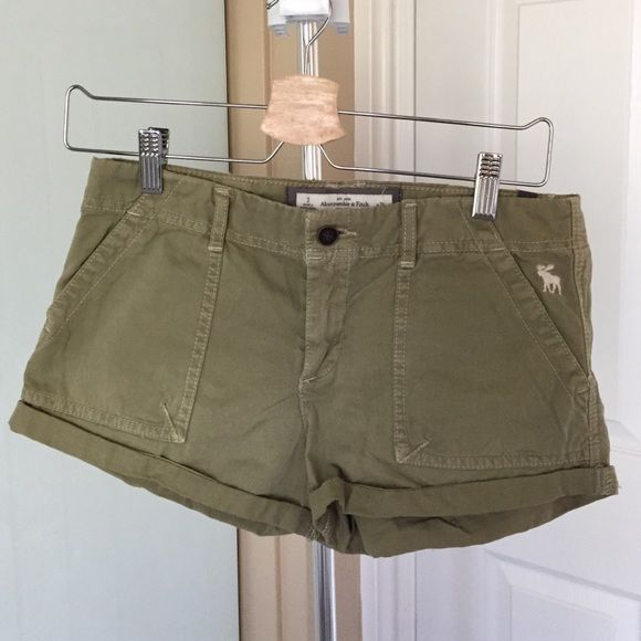 BNWT A&F olive green shorts, offers welcome BNWT olive green, super cute! Great for summer Abercrombie & Fitch Other