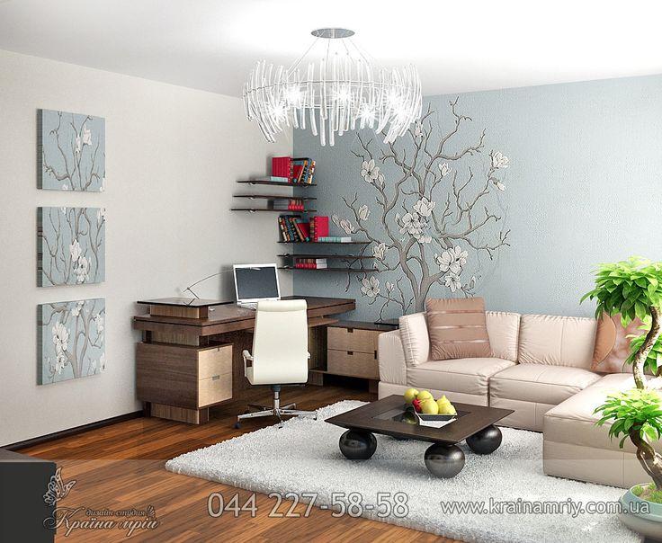Два цвета стен в комнате