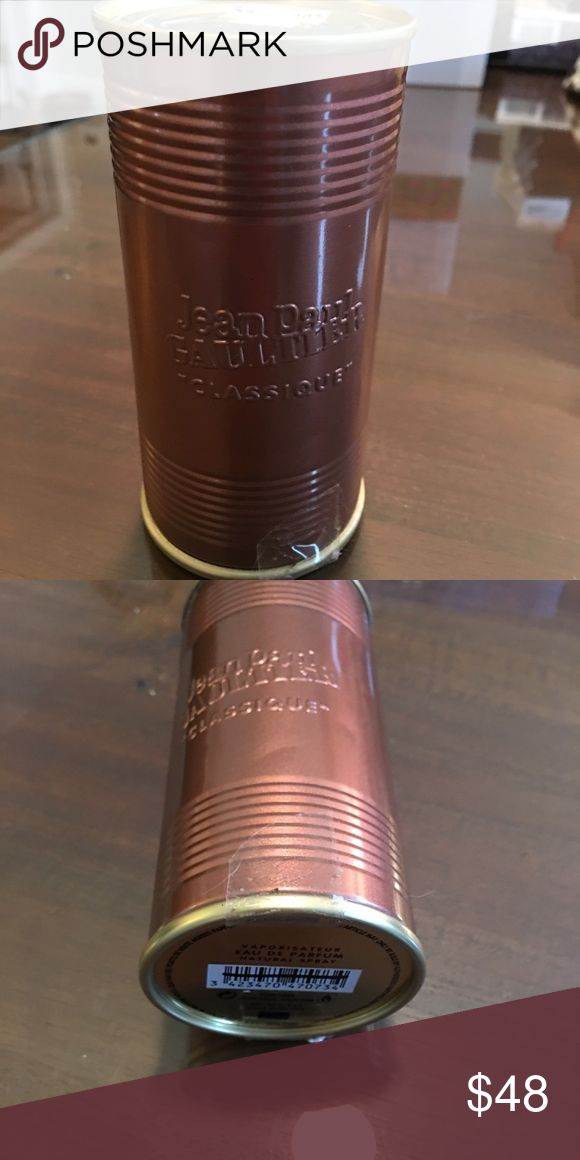 Jean Paul Gautier Perfume Jean Paul Gautier Perfume new in Can with tags.  Original scent. I just love this one!  Great holiday gift! Jean Paul Gaultier Makeup